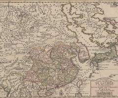 中国帝国および近隣諸国の新図