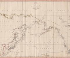 アメリカおよびアジア沿岸図