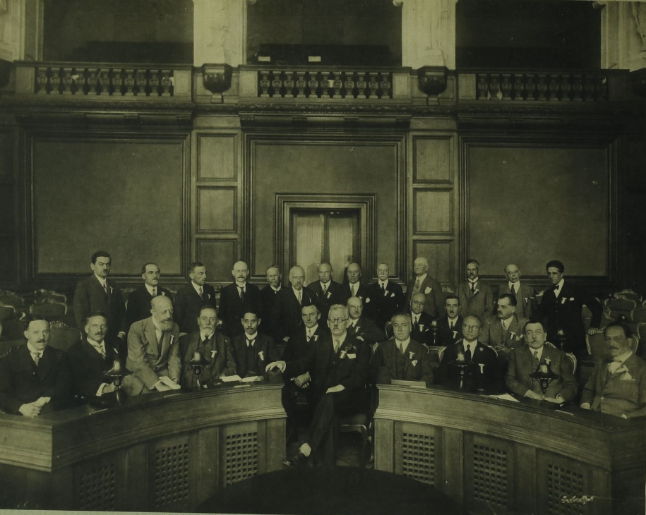The 1st International Academy of Otorhinolaryngology in Kopenhagen, July 1928