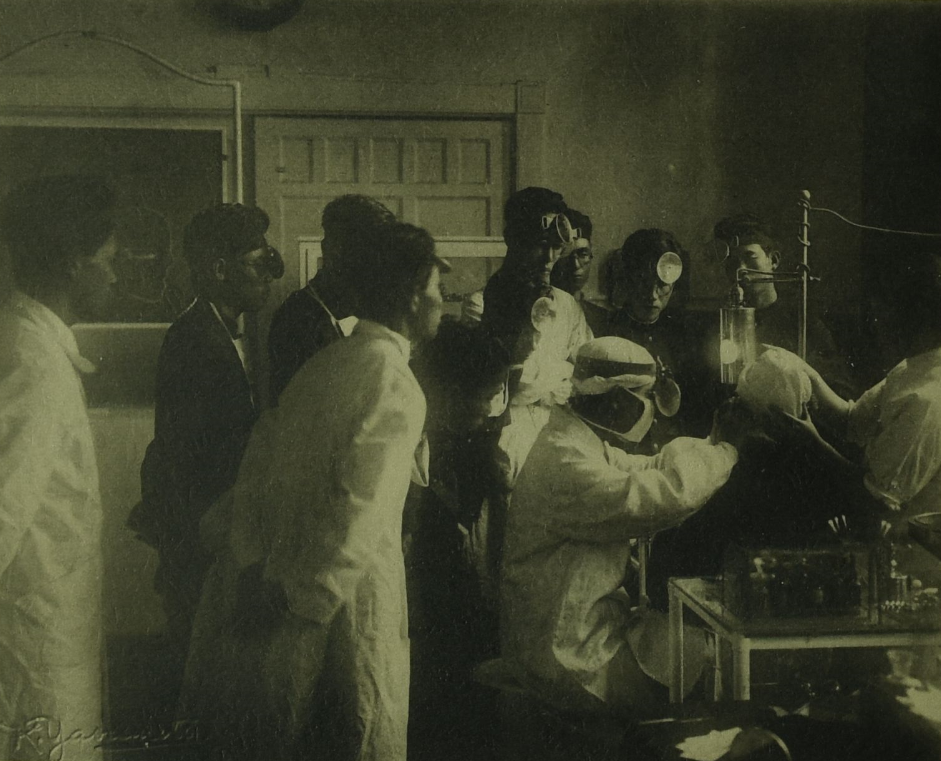 At the outpatient clinic of the department of otorhinolaryngology, 1928